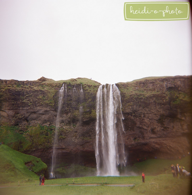 seljalandsfoss waterfall film photo