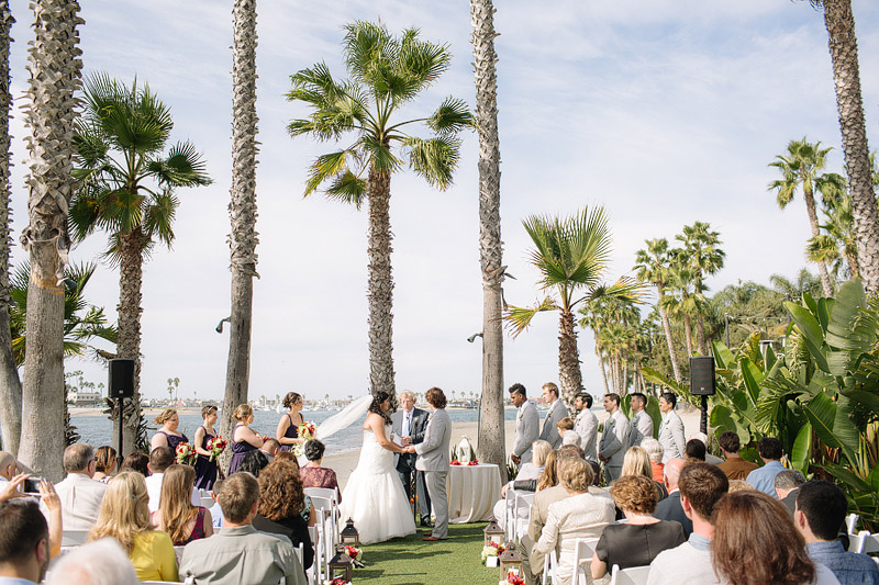 paradise point resort wedding san diego california ceremony beach photos