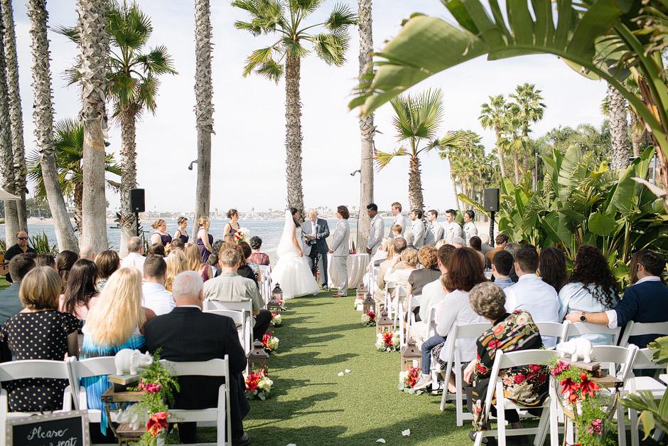 paradise point wedding ceremony outdoors beach photo