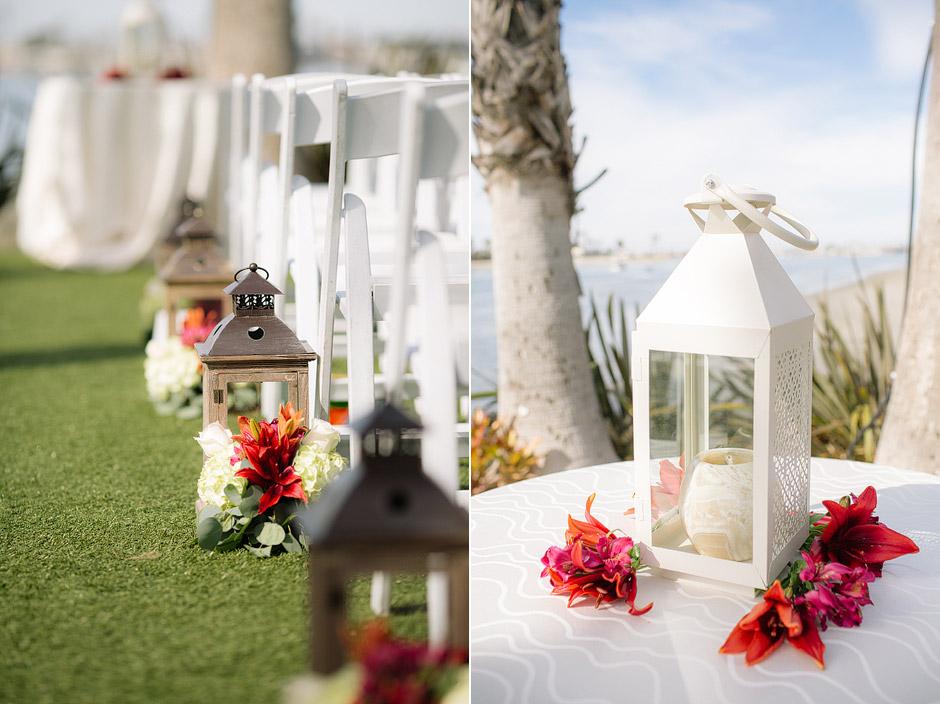 paradise point San Diego California wedding photo