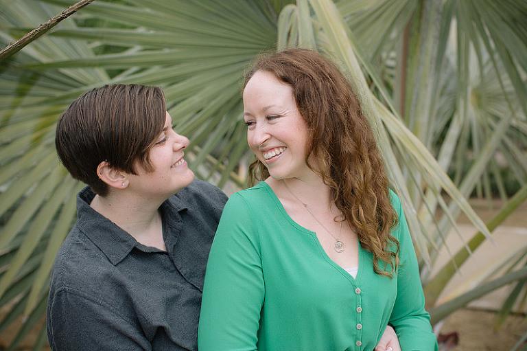 San Diego Balboa park engagement photo session natural romantic same-sex