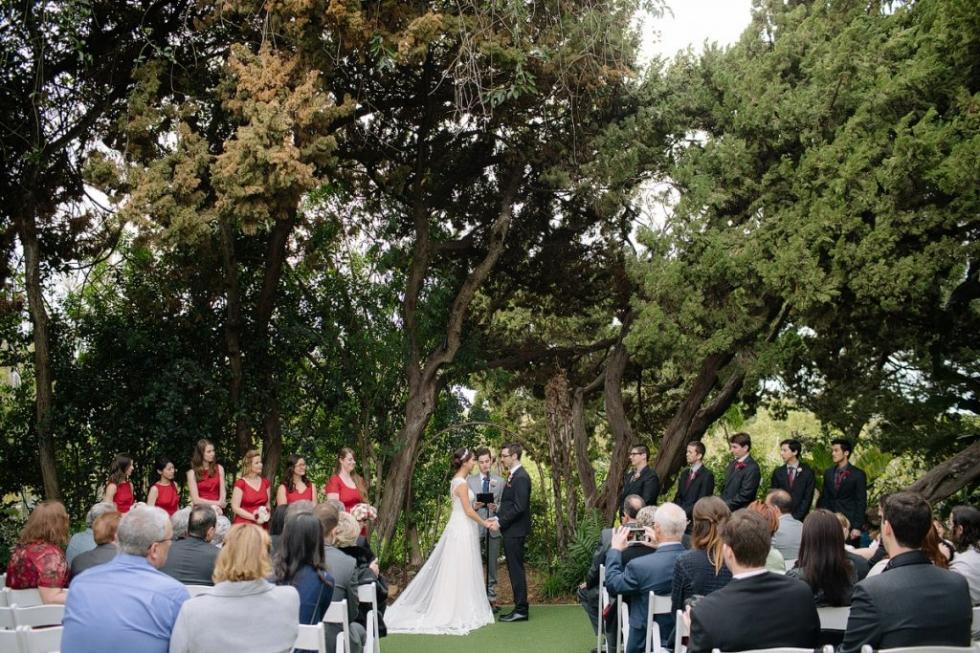 San Diego botanic garden wedding photography ceremony walled garden