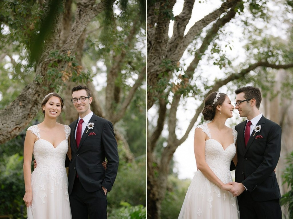 San Diego botanic garden wedding photography natural modern romantic